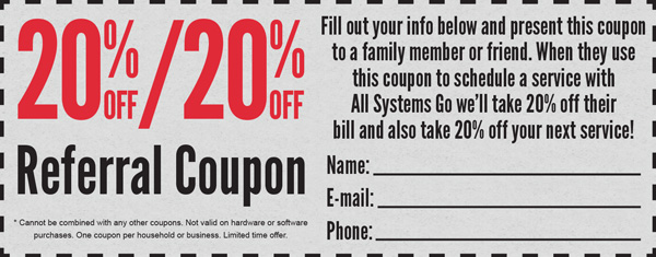20% Referral Coupon