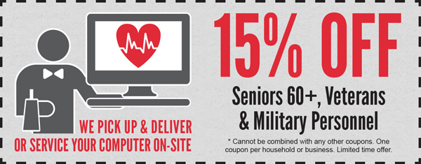 15% Off For Seniors and Military Personnel