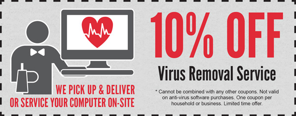 10% Off Virus Removal